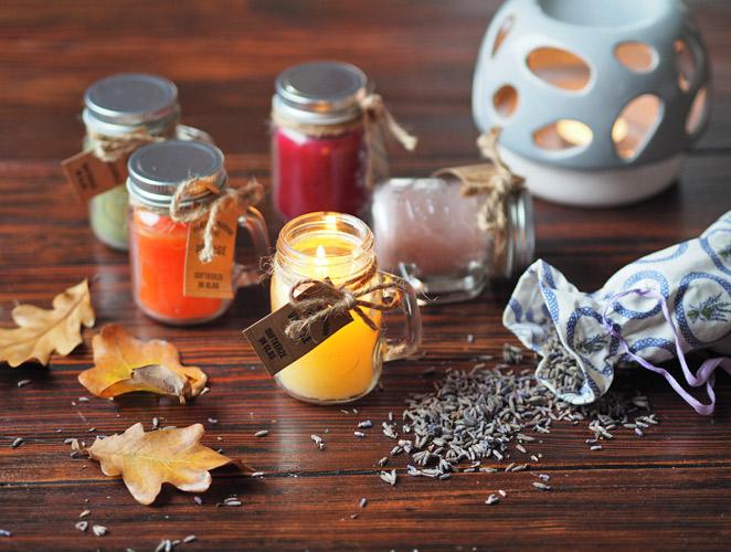 podzim,aromaterapie,vonne,svíčky,aromalampy,vanilka,pomeranč,santalové,dřevo,levandule,zelený,čaj