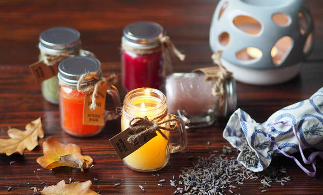 podzim,aromaterapie,vonne,svicky,aromalampy,vanilka,pomeranč,santalové,dřevo,levandule